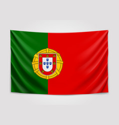hanging flag of portugal portuguese republic vector image