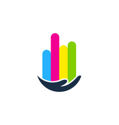 help paint logo icon design vector image