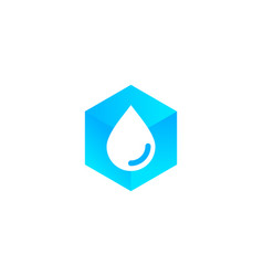 hexagon water logo icon design vector image
