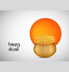 hindu festival diwali background vector image