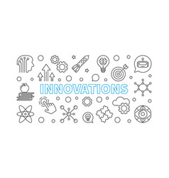 innovations line horizontal or vector image