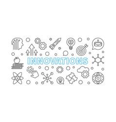 Innovations line horizontal vector