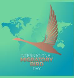International migratory bird day logo icon design vector