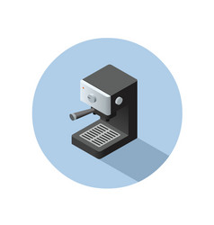 Isometric coffee machine object vector