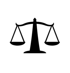 justice scales icon law balance symbol vector image