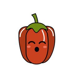 kawaii cute funny pepper vegetable vector image
