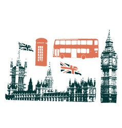 london grunge vector image