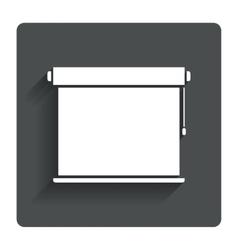 Louvers rolls sign icon Window blinds jalousie vector image