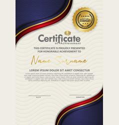 Luxury and elegant certificate template vector