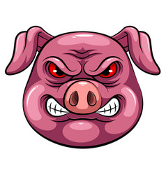 Mascot head an pig vector