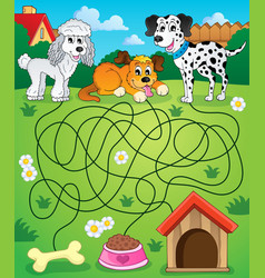 Maze 14 with dogs vector