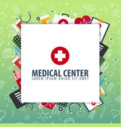 medical center medical background health care vector image