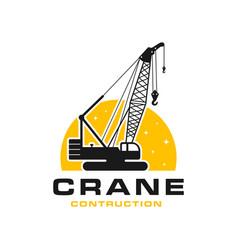 Modern building construction crane logo vector
