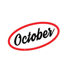 October rubber stamp vector