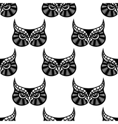 Owl bird seamless pattern vector image