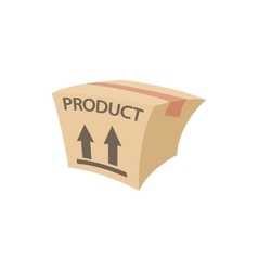 Packing box icon cartoon style vector image