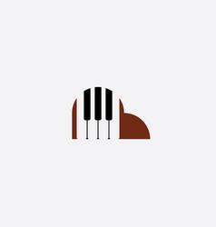 piano logo icon element vector image