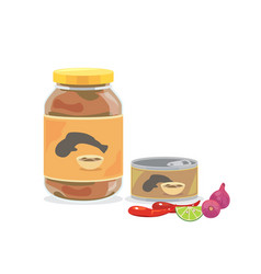 Pickled fish2 vector