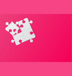 Pink background four puzzle jigsaw puzzle vector
