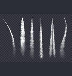 Plane smoke trail air jet clouds contrails vector