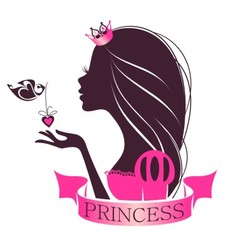 Portrait of a Princess vector image