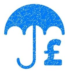 Pound Financial Umbrella Grainy Texture Icon vector