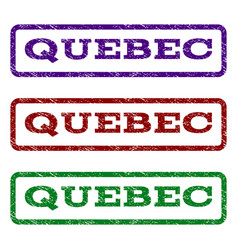 Quebec watermark stamp vector