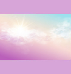 realistic sky template with transparent cloud and vector image