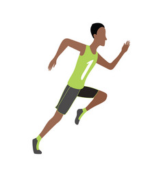 running man in flat design style sport run vector image