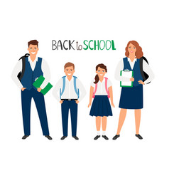 school students collection vector image