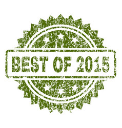 Scratched textured best of 2015 stamp seal vector