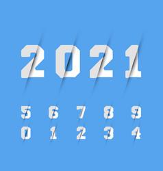 Set numbers 0 1 2 3 4 5 6 7 8 9 razor design vector