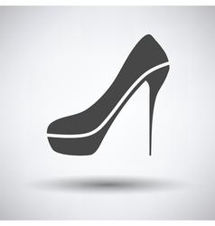 Sexy high heel shoe icon vector