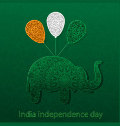 silhouette elephant balls color the vector image