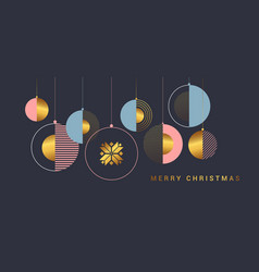 Simple holiday new year card vector