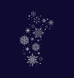 snowflake sock christmas and new year vector image