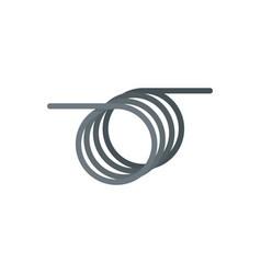 spiral cable icon flat style vector image