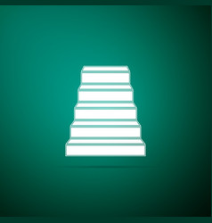 staircase icon isolated on green background vector image