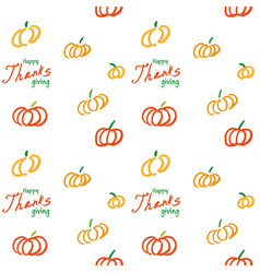 thanksgiving ink seamless background vector image
