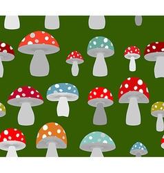 Toxic Amanita mushrooms seamless background vector image vector image