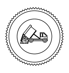 Truck of under construction design vector image