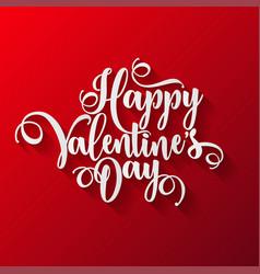 valentines day lettering handwritten romantic vector image