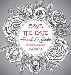 Vintage elegant wedding invitation with graphic vector