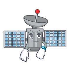 Waiting satelite mascot cartoon style vector