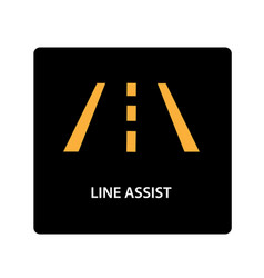 warning dashboard car icon line assist vector image