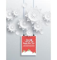 Winter Christmas sale design elements vector image