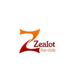 zealot fun club icon vector image