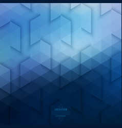 Abstract Geometric Technological Blue Background vector image