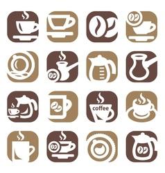 color coffee icin set vector image vector image