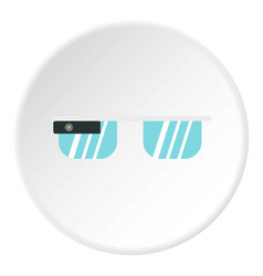 smart glasses icon circle vector image vector image